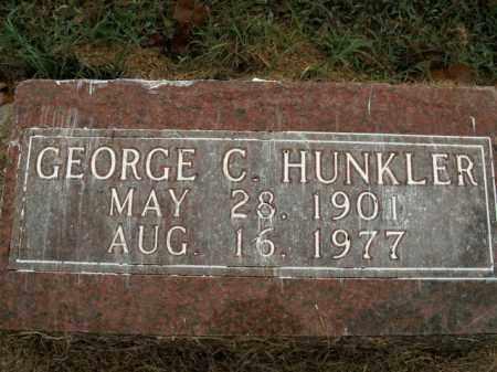 HUNKLER, GEORGE C. - Boone County, Arkansas | GEORGE C. HUNKLER - Arkansas Gravestone Photos