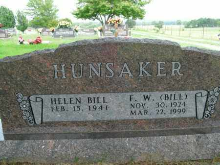 HUNSAKER, F.W. (BILL) - Boone County, Arkansas | F.W. (BILL) HUNSAKER - Arkansas Gravestone Photos