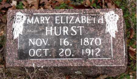 HURST, MARY ELIZABETH - Boone County, Arkansas   MARY ELIZABETH HURST - Arkansas Gravestone Photos