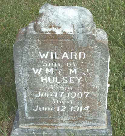 HULSEY, WILARD - Boone County, Arkansas | WILARD HULSEY - Arkansas Gravestone Photos
