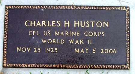 HUSTON  (VETERAN WWII), CHARLES  H - Boone County, Arkansas | CHARLES  H HUSTON  (VETERAN WWII) - Arkansas Gravestone Photos