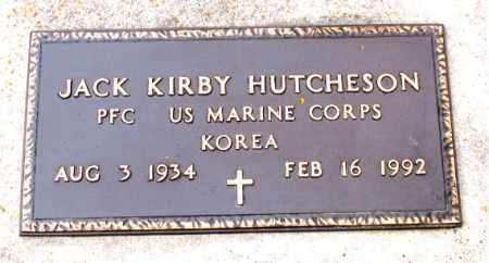 HUTCHESON   (VETERAN KOR), JACK KIRBY - Boone County, Arkansas   JACK KIRBY HUTCHESON   (VETERAN KOR) - Arkansas Gravestone Photos