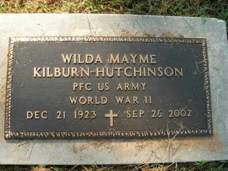 HUTCHINSON  (VETERAN WWII), WILDA MAYME - Boone County, Arkansas | WILDA MAYME HUTCHINSON  (VETERAN WWII) - Arkansas Gravestone Photos