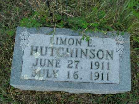 HUTCHINSON, LIMON E. - Boone County, Arkansas | LIMON E. HUTCHINSON - Arkansas Gravestone Photos