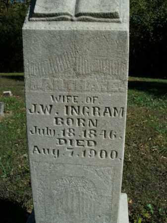 INGRAM, MARTHA E. - Boone County, Arkansas | MARTHA E. INGRAM - Arkansas Gravestone Photos