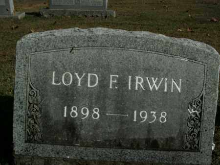 IRWIN, LOYD F. - Boone County, Arkansas   LOYD F. IRWIN - Arkansas Gravestone Photos