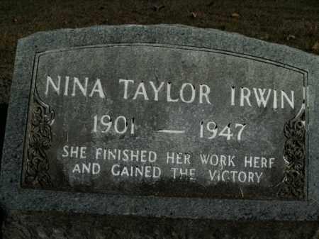 IRWIN, NINA - Boone County, Arkansas   NINA IRWIN - Arkansas Gravestone Photos