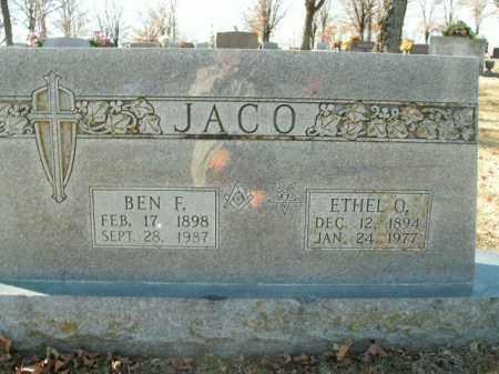 JACO, ETHEL O. - Boone County, Arkansas | ETHEL O. JACO - Arkansas Gravestone Photos