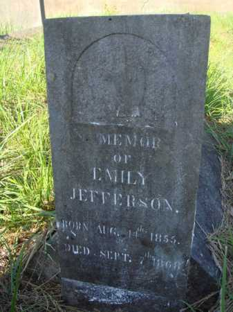 JEFFERSON, EMILY - Boone County, Arkansas | EMILY JEFFERSON - Arkansas Gravestone Photos
