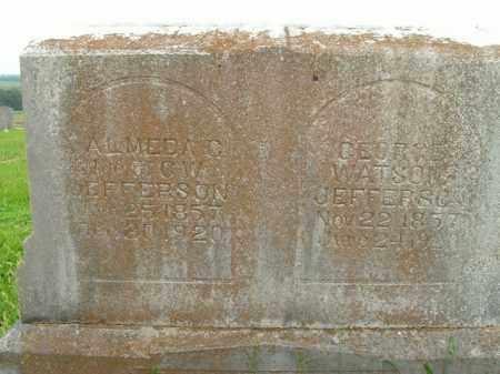 JEFFERSON, ALMEDA C. - Boone County, Arkansas   ALMEDA C. JEFFERSON - Arkansas Gravestone Photos