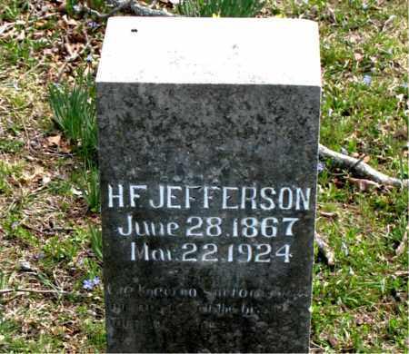 JEFFERSON, H.  F. - Boone County, Arkansas   H.  F. JEFFERSON - Arkansas Gravestone Photos