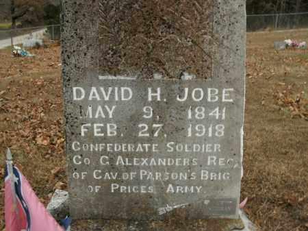 JOBE  (VETERAN CSA), DAVID H - Boone County, Arkansas   DAVID H JOBE  (VETERAN CSA) - Arkansas Gravestone Photos