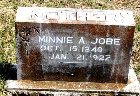 JOBE, MINNIE  A. - Boone County, Arkansas   MINNIE  A. JOBE - Arkansas Gravestone Photos