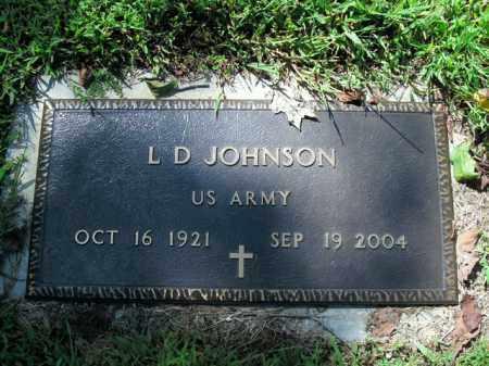 JOHNSON  (VETERAN), L.D. - Boone County, Arkansas | L.D. JOHNSON  (VETERAN) - Arkansas Gravestone Photos