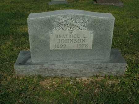 JOHNSON, BEATRICE L. - Boone County, Arkansas   BEATRICE L. JOHNSON - Arkansas Gravestone Photos