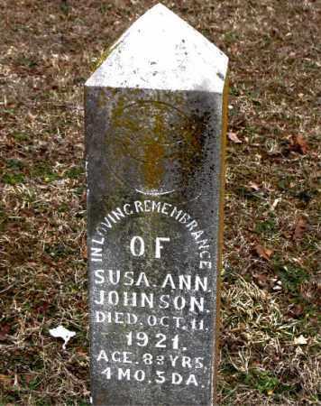 JOHNSON, SUSA  ANN - Boone County, Arkansas | SUSA  ANN JOHNSON - Arkansas Gravestone Photos