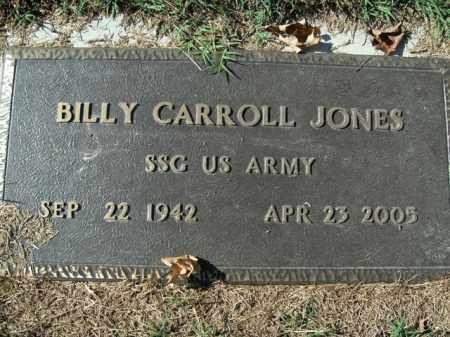 JONES  (VETERAN), BILLY CARROLL - Boone County, Arkansas   BILLY CARROLL JONES  (VETERAN) - Arkansas Gravestone Photos