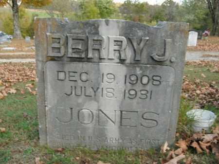 JONES  (VETERAN), BERRY J - Boone County, Arkansas   BERRY J JONES  (VETERAN) - Arkansas Gravestone Photos
