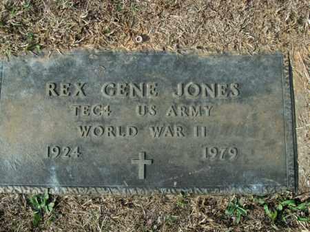 JONES  (VETERAN WWII), REX GENE - Boone County, Arkansas   REX GENE JONES  (VETERAN WWII) - Arkansas Gravestone Photos