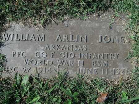 JONES  (VETERAN WWII), WILLIAM ARLIN - Boone County, Arkansas | WILLIAM ARLIN JONES  (VETERAN WWII) - Arkansas Gravestone Photos