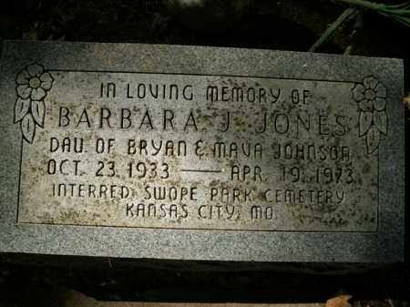 JOHNSON JONES, BARBARA J. - Boone County, Arkansas | BARBARA J. JOHNSON JONES - Arkansas Gravestone Photos