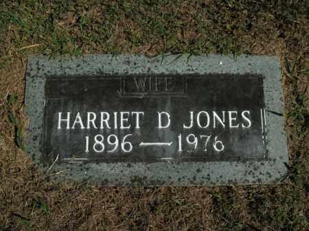 JONES, HARRIET D. - Boone County, Arkansas | HARRIET D. JONES - Arkansas Gravestone Photos
