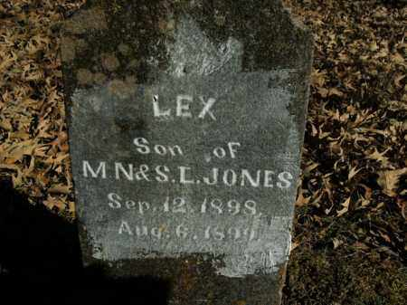 JONES, LEX - Boone County, Arkansas | LEX JONES - Arkansas Gravestone Photos