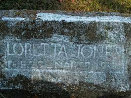 JONES, LORETTA - Boone County, Arkansas   LORETTA JONES - Arkansas Gravestone Photos