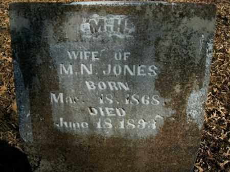 JONES, M.H. - Boone County, Arkansas   M.H. JONES - Arkansas Gravestone Photos