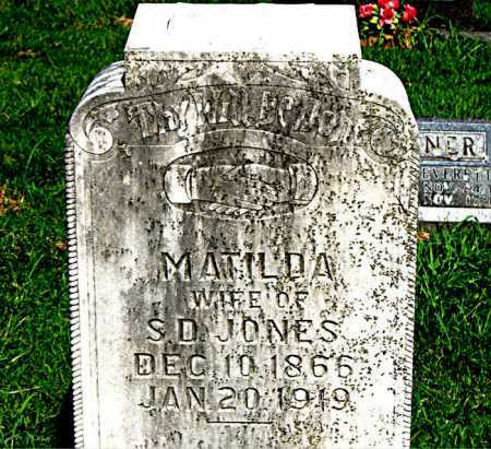 JONES, MATILDA - Boone County, Arkansas   MATILDA JONES - Arkansas Gravestone Photos