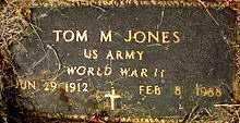 JONES  (VETERAN WWII), TOM M - Boone County, Arkansas | TOM M JONES  (VETERAN WWII) - Arkansas Gravestone Photos