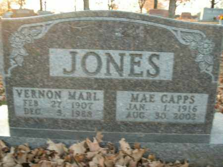 CAPPS JONES, MAE - Boone County, Arkansas | MAE CAPPS JONES - Arkansas Gravestone Photos