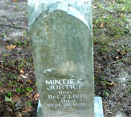 JUSTICE, MINTIE E. - Boone County, Arkansas   MINTIE E. JUSTICE - Arkansas Gravestone Photos