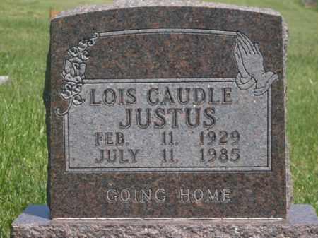 CAUDLE JUSTUS, LOIS - Boone County, Arkansas   LOIS CAUDLE JUSTUS - Arkansas Gravestone Photos