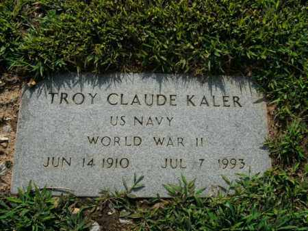 KALER  (VETERAN WWII), TROY CLAUDE - Boone County, Arkansas   TROY CLAUDE KALER  (VETERAN WWII) - Arkansas Gravestone Photos