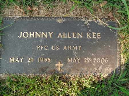 KEE  (VETERAN), JOHNNY ALLEN - Boone County, Arkansas   JOHNNY ALLEN KEE  (VETERAN) - Arkansas Gravestone Photos