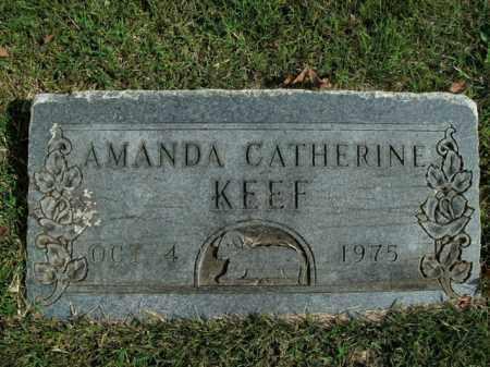 KEEF, AMANDA CATHERINE - Boone County, Arkansas   AMANDA CATHERINE KEEF - Arkansas Gravestone Photos