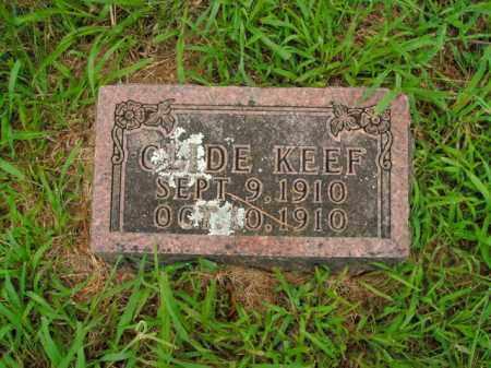 KEEF, CLIDE - Boone County, Arkansas | CLIDE KEEF - Arkansas Gravestone Photos