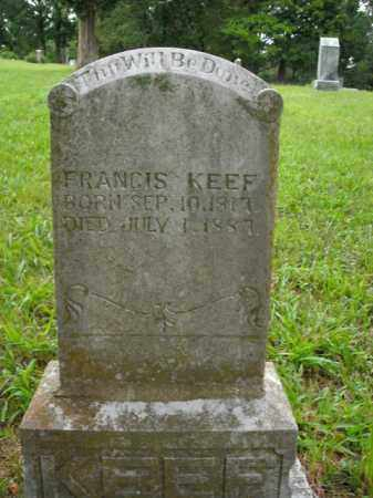 KEEF, FRANCIS - Boone County, Arkansas | FRANCIS KEEF - Arkansas Gravestone Photos