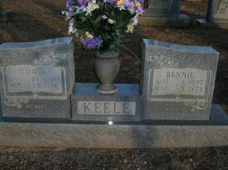 KEELE, OMA A. - Boone County, Arkansas   OMA A. KEELE - Arkansas Gravestone Photos