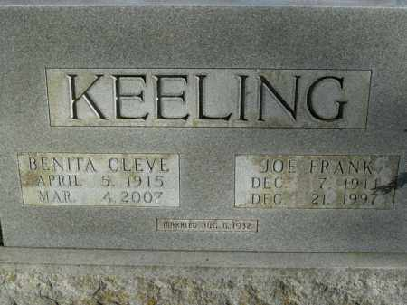 KEELING, JOE FRANK - Boone County, Arkansas | JOE FRANK KEELING - Arkansas Gravestone Photos
