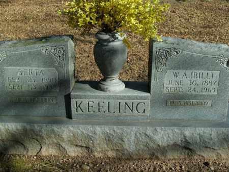 "KEELING, W.A. ""BILL"" - Boone County, Arkansas | W.A. ""BILL"" KEELING - Arkansas Gravestone Photos"
