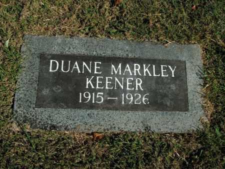 KEENER, DUANE MARKLEY - Boone County, Arkansas | DUANE MARKLEY KEENER - Arkansas Gravestone Photos