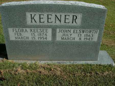 KEENER, JOHN ELSWORTH - Boone County, Arkansas   JOHN ELSWORTH KEENER - Arkansas Gravestone Photos