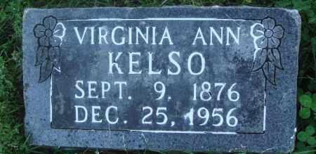 KELSO, VIRGINIA ANN - Boone County, Arkansas   VIRGINIA ANN KELSO - Arkansas Gravestone Photos