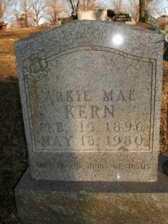 KERN, ARKIE MAE - Boone County, Arkansas | ARKIE MAE KERN - Arkansas Gravestone Photos