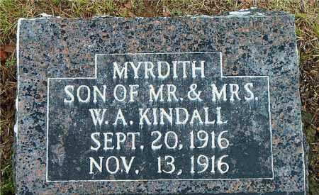KINDALL, MYRDITH - Boone County, Arkansas   MYRDITH KINDALL - Arkansas Gravestone Photos