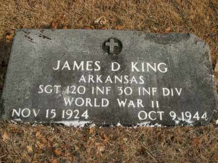 KING  (VETERAN WWII), JAMES D - Boone County, Arkansas | JAMES D KING  (VETERAN WWII) - Arkansas Gravestone Photos