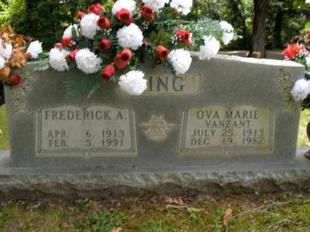 KING, FREDERICK A. - Boone County, Arkansas | FREDERICK A. KING - Arkansas Gravestone Photos