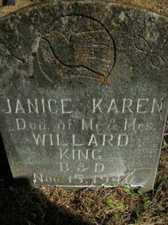 KING, JANICE KAREN - Boone County, Arkansas | JANICE KAREN KING - Arkansas Gravestone Photos